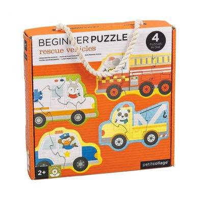 Petit Collage Beginners Puzzle Rescue Vehicles