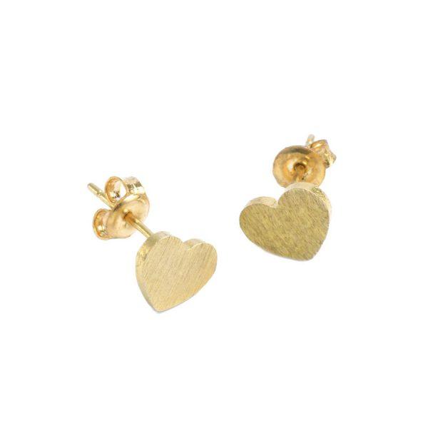 Small Gold Heart Earrings