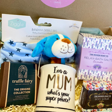 mum and baby boy hamper