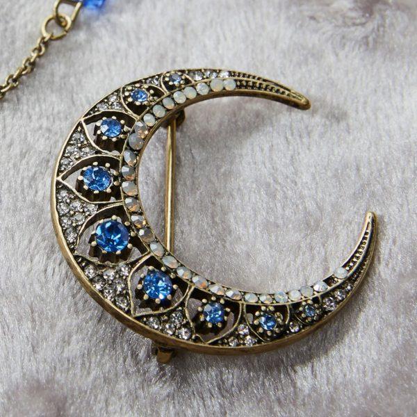 celestial moon brooch
