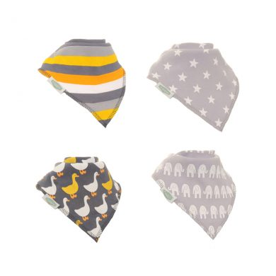 Ziggle Baby Bandana Bibs - Stylish Greys