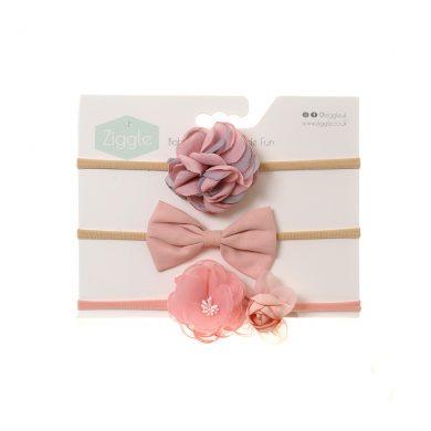 Ziggle Headband - Pink Roses