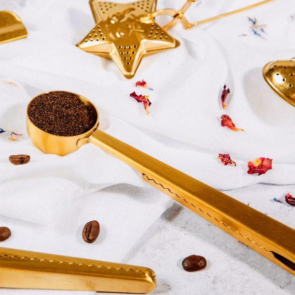 Brass Coffee Scoop Clip