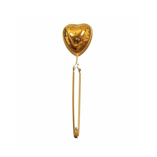 Brass Heart Tea Infuser Display