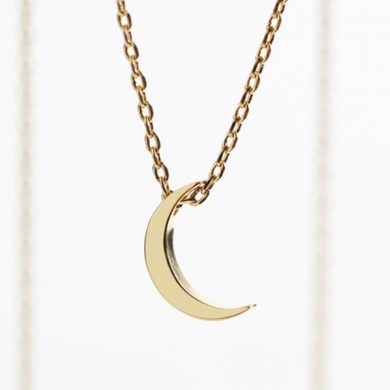 Lisa Angel Gold Crescent Moon Necklace