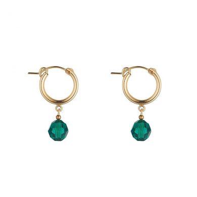 MoMuse Green Clip Hoop Earrings