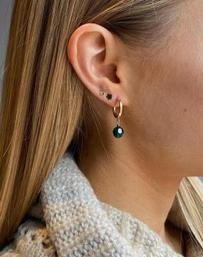 MoMuse Green Clip Hoop Earrings Lifestyle