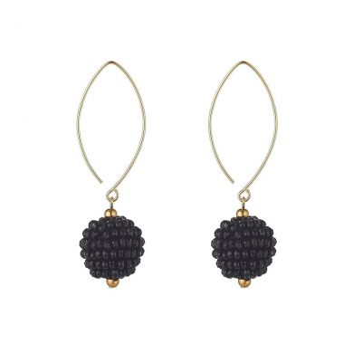 MoMuse Small Black Cluster Earrings