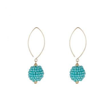 MoMuse Small Blue Cluster Earrings