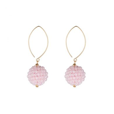 Momuse Gold Filled Pink Cluster Earrings
