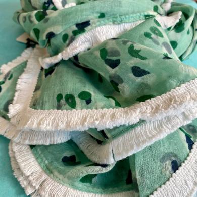 mint white scarf