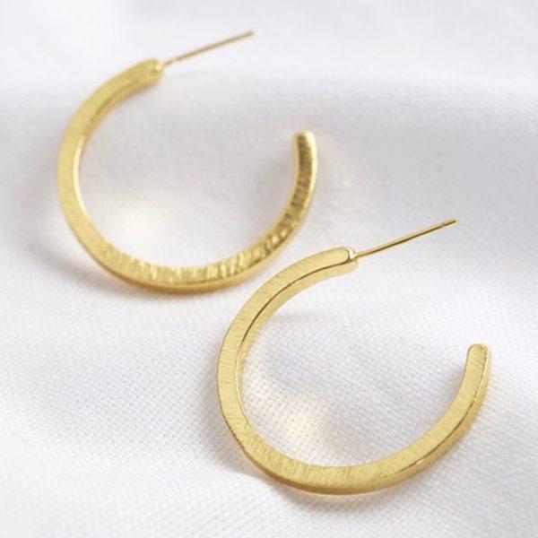 Brushed-Bar-Hoop-Earrings