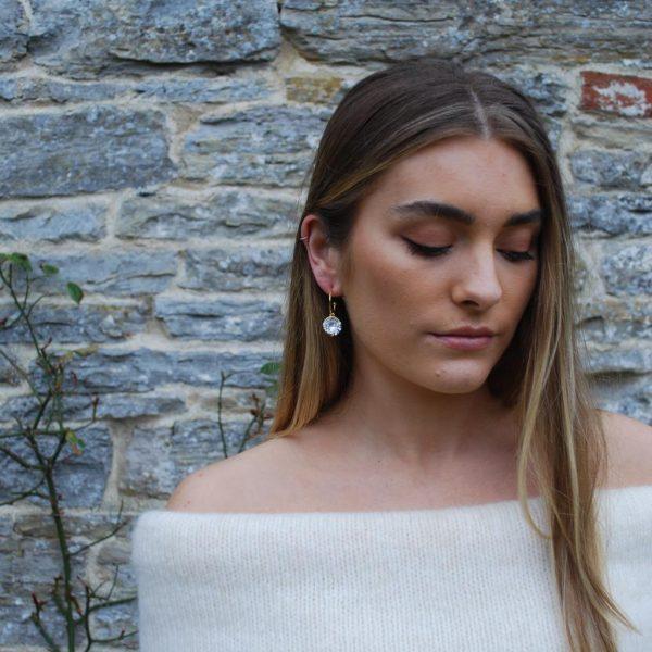 Crystal Hoop Earrings Lifestyle