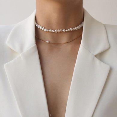 freshwater pearl choker