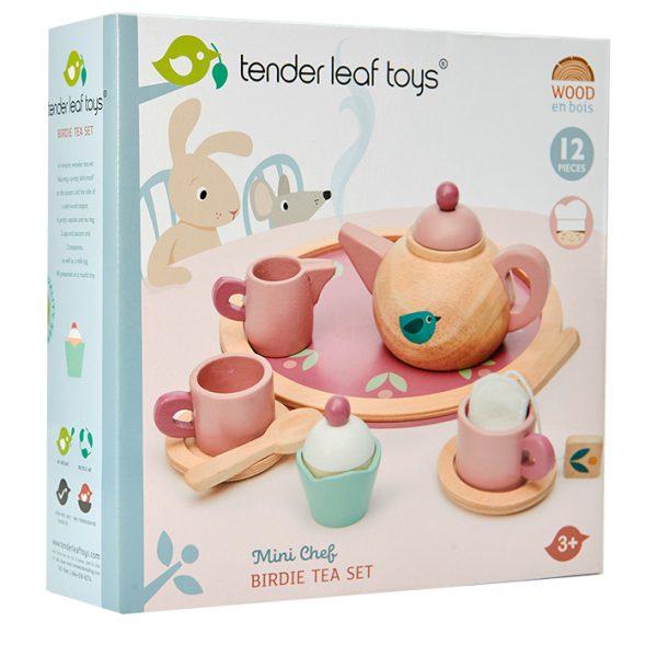 tender leaf wooden tea set