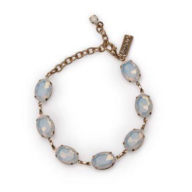 11471 Oval Stone Bracelet White Opal