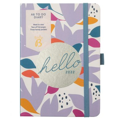 A6 To Do Diary 2022 Floral Cover