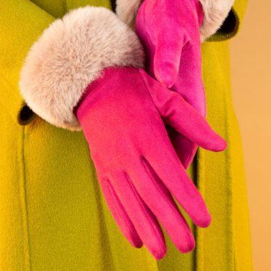 Bettina Gloves Fuchsia & Blush