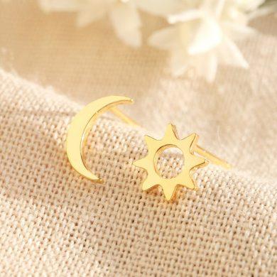 Moon & Sun Gold Studs