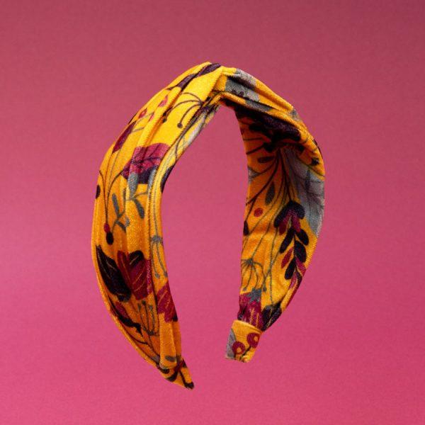 Printed Velvet Headband Floral